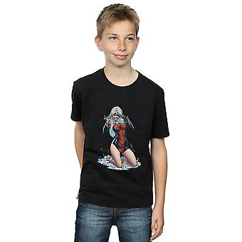 Marvel Boys Black Cat Spider Suit T-Shirt