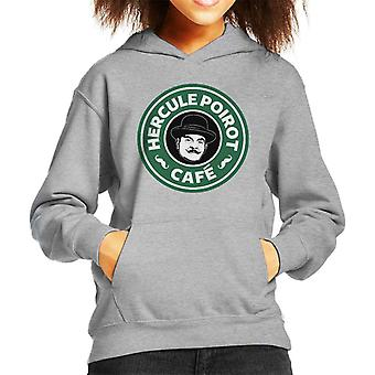 Hercule Poirot Cafe Starbucks Logo Kid de Hooded Sweatshirt