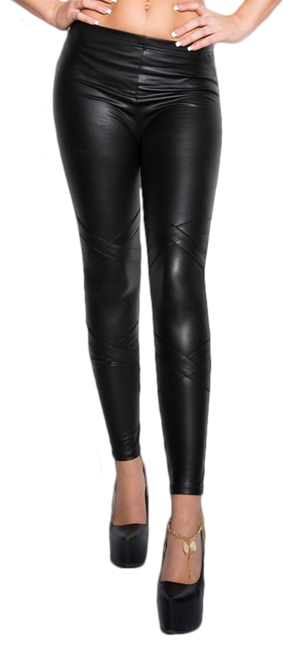 Waooh - Legging leather finish Brui