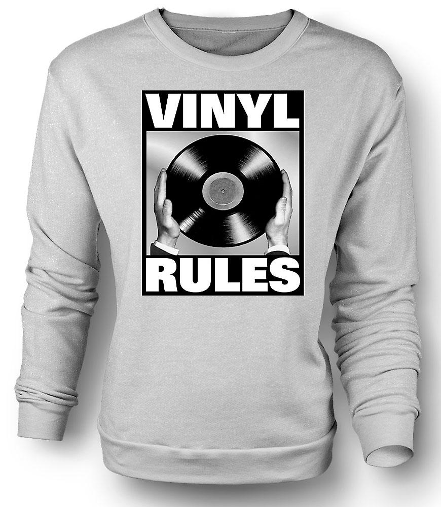 Mens-Sweatshirt-Vinyl-Regeln - DJ Mischen