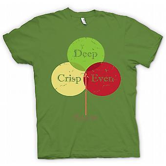 Deep Crisp Even Snow - Funny  - 100% Cotton Short Sleeve Mens T Shirt
