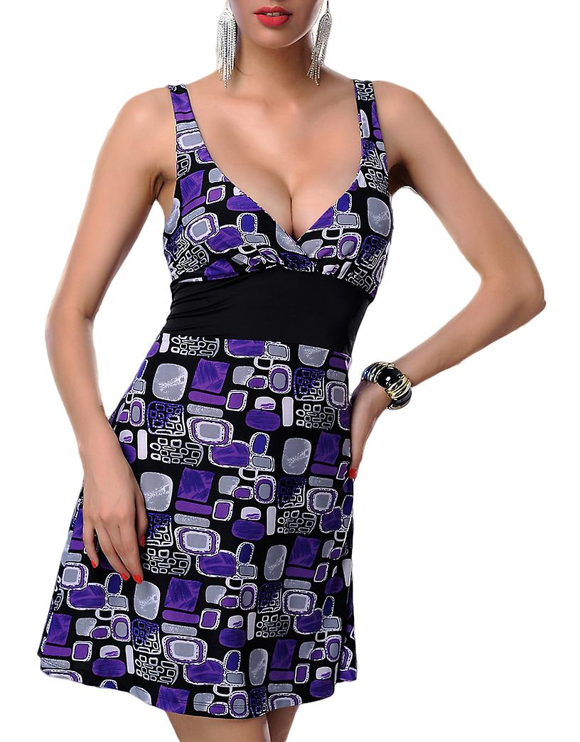 Waooh - Short dress with square pattern Asto