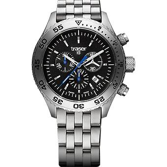 Traser P59 Aurora Chronograph Classic Stainless Steel Strap Mens Watch 106833 46mm