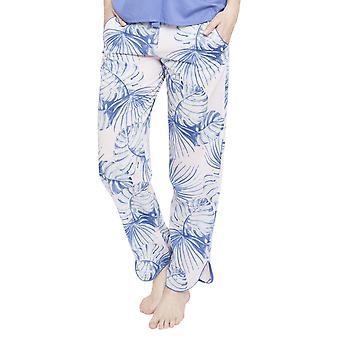 Cyberjammies 4102 Frauen Isla rosa Blatt drucken Pyjama Pant