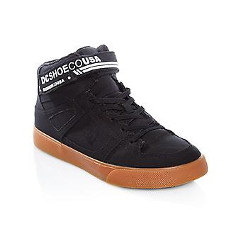 DC Black-White-Gum Pure TX EV Kids Hi Top Shoe