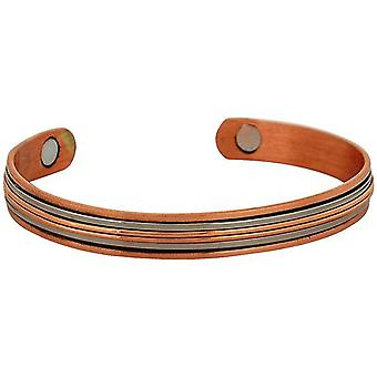 The Olivia Collection Unisex Copper Two Tone Design Magnetic Bangle