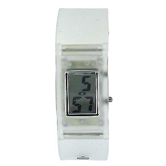 The Olivia Collection Unisex Digital Clear Plastic Strap Watch With Date Boxx186