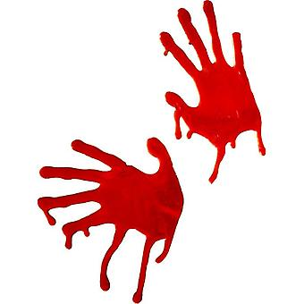 Horrible Blooded Hands, Red, For Window Decoration Only Fancy Dress Accessory