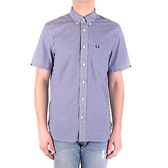 Fred Perry blå bomullsskjorta