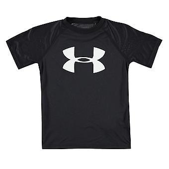 Sotto Armour bambini Boys Big Logo solido T Shirt Girocollo Junior Tee Top corto