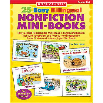 25 Easy Bilingual Nonfiction Mini-Books - Easy-To-Read Reproducible Mi