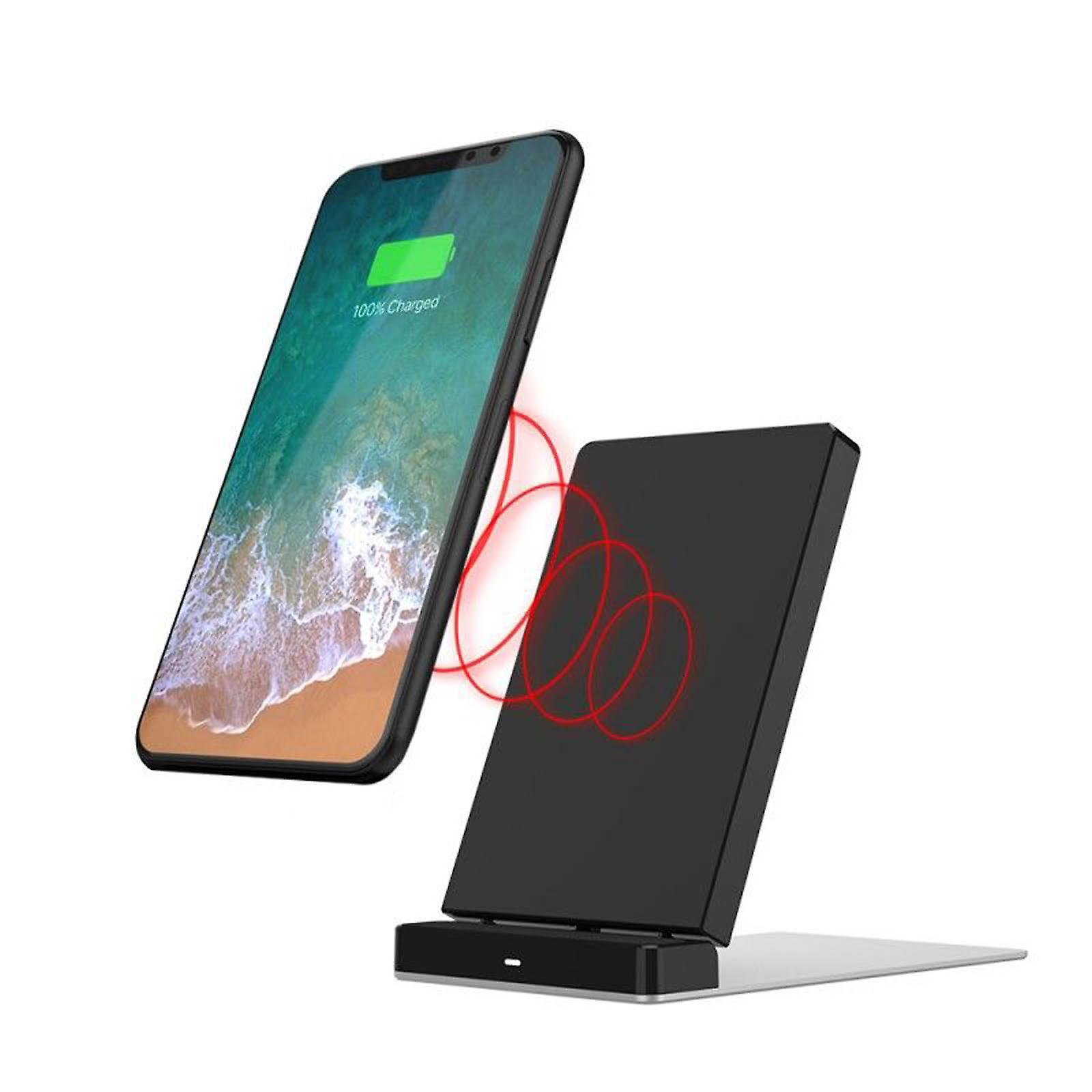 Chargeur induction smartphone tablette, recharge rapide. Inkax fils noirs