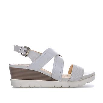 Womens Geox Marykarmen Plus Sandals In Off White