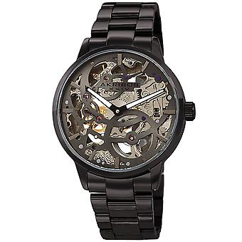 Akribos XXIV AKS191078GN de los hombres inoxidable mecánico esqueleto pulsera reloj