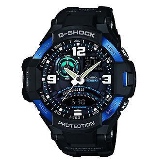 Casio G-Shock Sky Cockpit Gravity Defier Men es Black Alarm Chronograph Watch GA-1000-2BER