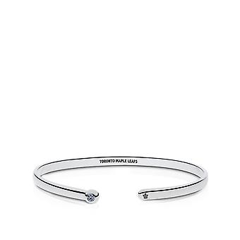 Toronto Maple Leafs - Toronto Maple Leafs Engraved White Sapphire Cuff Bracelet