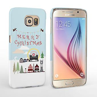 Caseflex Samsung Galaxy S6  Merry Christmas Pattern Hard Case