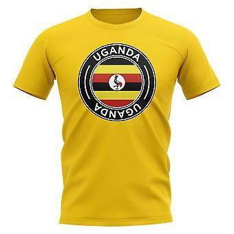 Uganda Fußball Abzeichen T-Shirt (gelb)