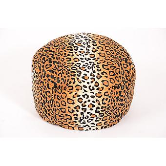 Seat stool seat cushion Pouf GEPARD round animal print 47 x 34 cm
