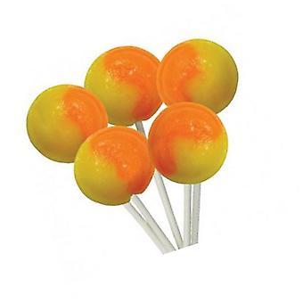 2 Bag of 5 Orange and Lemon Flavour Mega Lollies