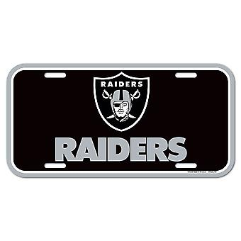 Wincraft NFL License Plate - Oakland Raiders