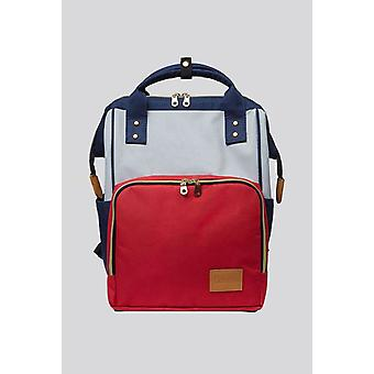 Louche Billie Colour Block  Pocket Backpack Red