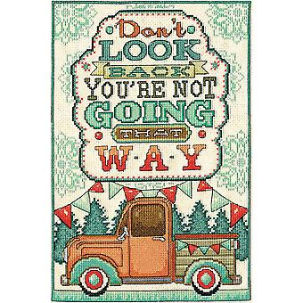Don't Look Back Counted Cross Stitch Kit-8