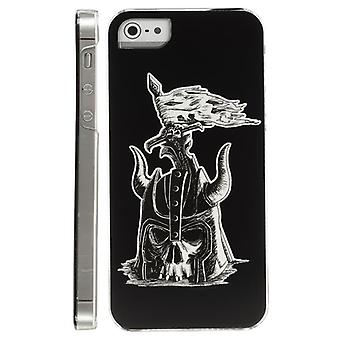 Fluorescent hood with skull and helmet for iPhone 5 (black)