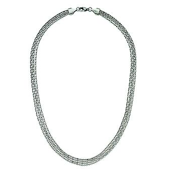 Stainless Steel Multichain Necklace - 17 Inch