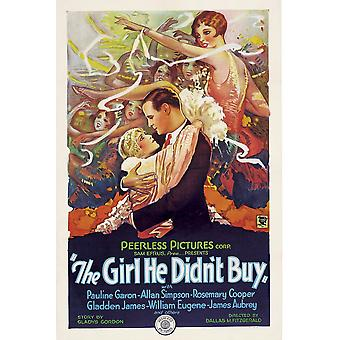 The Girl He DidnT Buy Center Foreground Left To Right Pauline Garon Allan Simpson 1928 Movie Poster Masterprint