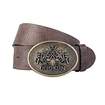 OTTO KERN belts men's belts leather belt Brown 1991