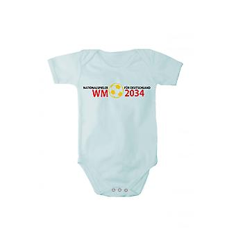 Baby Bodysuit internationals for Germany World Cup 2034 in different languages