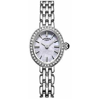 Rotary Womans Stainless Steel Cocktail Mother Of Pearl LB05050/07 Watch