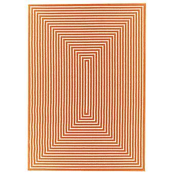 Lyse Orange geometriske spisestue tæppe - Floorit