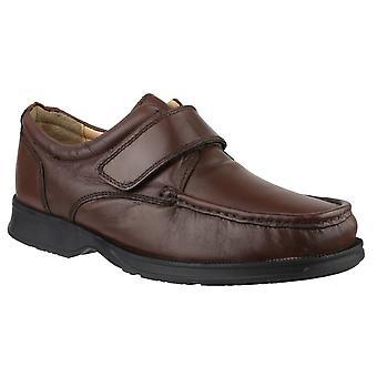 Gibt Timothy Mens Klettverschluss Schuhe Leder PU Befestigung Gurte Schuhe Stiefel