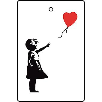 Banksy Girl With Red Heart Balloon Car Air Freshener
