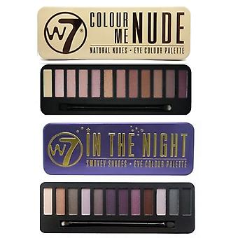 W7 Eyeshadow Palettes- (In the Night + Colour Me Nude)