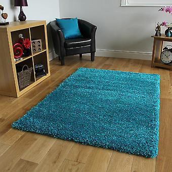 Teal Blue Soft Shaggy Rug Ontario