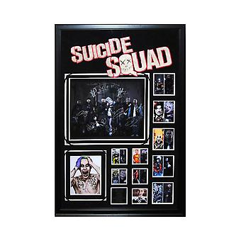 Suicide Squad Movie Picture Signed by Cast in Custom Framed Collage