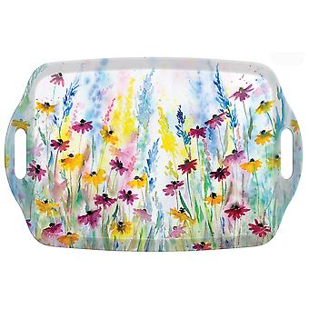 I Style Daisy Field Large Tea Tray with Handles, 48 x 31cm