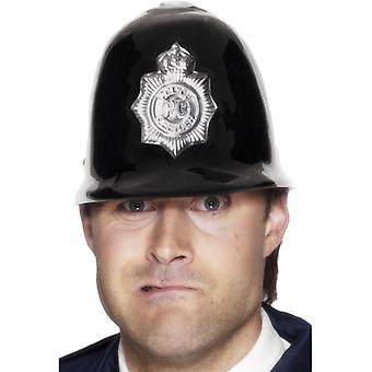 Policía casco plástico con insignia