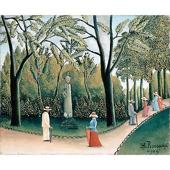 Henri Rousseau - The Luxembourg Gardens Poster Print Giclee