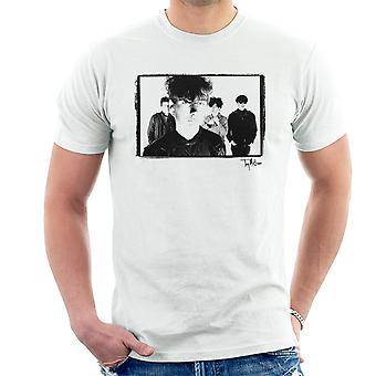 Jesus und Mary Chain Band schoss Jim Reid schließen sich Männer T-Shirt