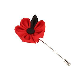 Snobbop revers-corsage flower pin brooch pin black of big red flower