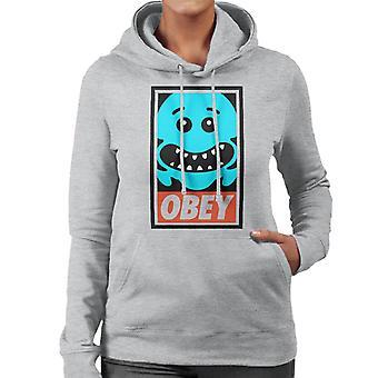 Rick And Morty Mr Meeseeks Obey Women's Hooded Sweatshirt