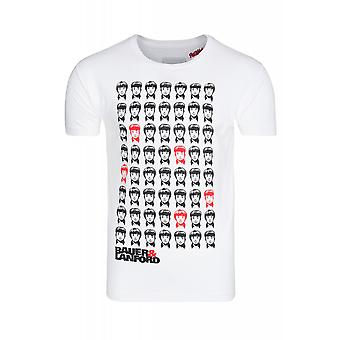 SOMeWEaR people shirt men's T-Shirt white with applications