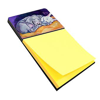 Carolines Treasures  7354SN Weimaraner Snuggle Bunny Sticky Note Holder