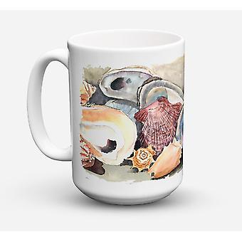 Sea Shells Dishwasher Safe Microwavable Ceramic Coffee Mug 15 ounce
