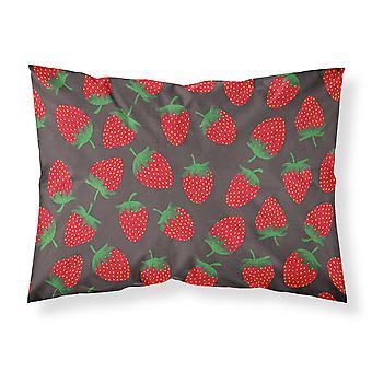 Erdbeeren auf grauen Stoff Standard Kissenbezug