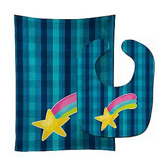 Carolines Treasures  BB9146STBU Multicolor Shooting Star Baby Bib & Burp Cloth